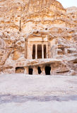 Temple antique de Nabatean dans peu de PETRA Photos libres de droits