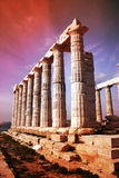 Temple antique de Poseidon Photo libre de droits