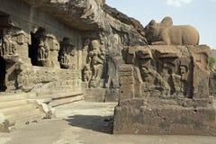 Temple antique de roche Image libre de droits