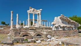 Temple antique de Trajan Images libres de droits