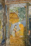 Temple with antique painting about law of karma since year 1928 Royalty Free Stock Photography
