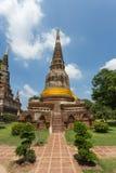 Temple antique public dans Ayuthaya, Thaïlande Photos stock