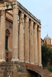 Temple of Antonino and Faustina Stock Photography