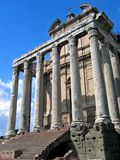 Temple of Antoninus Stock Photo
