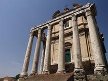 Temple of Antoninus and Faustina Stock Photos