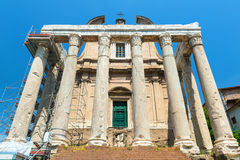 The Temple of Antoninus and Faustina in Roman Forum, Rome Stock Images