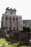 The Temple of Antoninus and Faustina in rome, italy Stock Photos