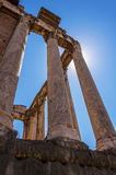 Temple of Antoninus and Faustina Stock Image