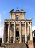 Temple of Antoninus and Faustina in Rome Stock Photo