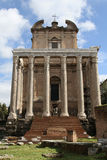 The Temple of Antoninus and Faustina Stock Image