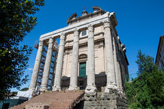 The Temple of Antoninus Pius and Faustina Stock Photos