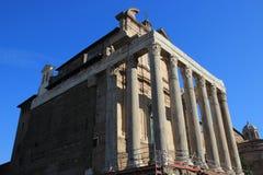 Temple of Antoninus in Rome Royalty Free Stock Photo