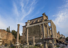 Temple Antonius Faustina Roman Forum Rome Italy Royalty Free Stock Photos