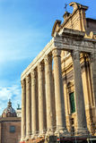 Temple Antonius Faustina Roman Forum Rome Italy Royalty Free Stock Images