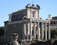 Temple of Antonius Pius and Faustina Royalty Free Stock Photography