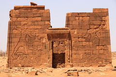 Temple of Apedemak in Sudan. The temple of Apedemak & x28;or the Lion Temple& x29;. Apedemak was a lion-headed warrior god worshipped in Nubia Stock Image