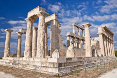 The Temple of Aphaea. Royalty Free Stock Images