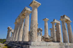 Temple of Aphaea. Aegina Island Greece. The ancient temple of Aphaea on the island of Aegina near Athens in Greece Stock Image