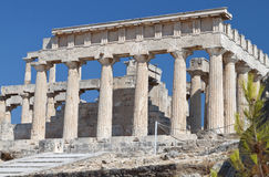 Temple of Aphaea Athina at Aegina, Greece. Classical ancient temple of Aphaea Athina at Aegina island in Greece Royalty Free Stock Image