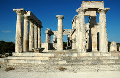 Temple of Aphaea (Britomartis). On Aegina island, Greece stock photography