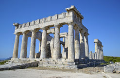 Temple of Aphaia Aegina Greece Stock Images