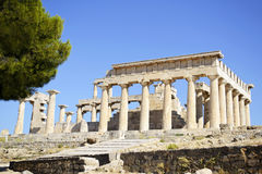 Temple of Aphaia in Aegina Greece Royalty Free Stock Photo