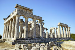Temple of Aphaia in Greece Royalty Free Stock Photo