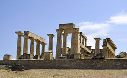The temple of Aphaia in Greece Stock Photos