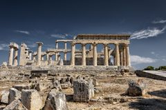 The temple of Aphaia in the island of Aegina, greece
