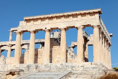 Temple of Aphaia from the path Stock Photography