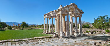 Temple of Aphrodite. Famous Temple of Aphrodite in Aphrodisias. In Roman time it was a small city in Caria Stock Image