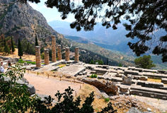 The temple of Apollo Royalty Free Stock Photography
