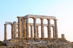 Temple of Apollo. The temple of Apollo on the Aegina island, Greece Royalty Free Stock Images