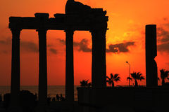 Temple of Apollo. At Side Turkey Royalty Free Stock Photography