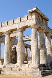 The temple of Apollo. On the Aegina island, Greece Royalty Free Stock Images