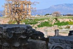 Temple of Apollo, Ancient Corinth. Royalty Free Stock Photography