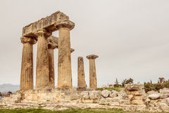 Temple of Apollo in Ancient Corinth, Greece Stock Photography