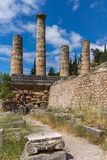 The Temple of Apollo in Ancient Greek archaeological site of Delphi, Greece Stock Photography