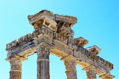 Temple of Apollo. Ancient Temple of Apollo ruins, Side, Antalya, Turkey Stock Image
