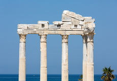 Temple of Apollo. Ancient ruins in Side. Stock Images