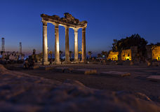 Temple of Apollo in ancient Side Stock Photo