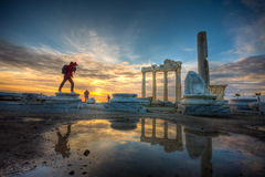 The Temple of Apollo, Antalya. Side was an ancient Greek city in Anatolia, in the region of Pamphylia, in what is now Antalya province, on the southern Royalty Free Stock Photography