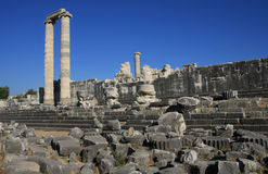 Temple of Apollo in antique city of Didyma. Royalty Free Stock Photos