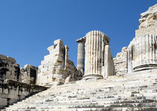 Temple of Apollo in antique city of Didyma Stock Images