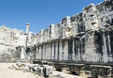 Temple of Apollo in antique city of Didyma Stock Photo
