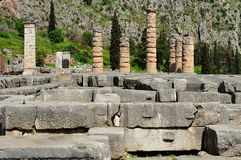 Temple of Apollo columns and crepidoma Royalty Free Stock Image