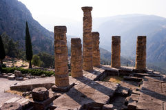 Temple of Apollo, Delfi Stock Images