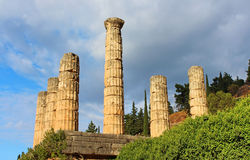 Temple of Apollo in Delph Stock Image