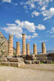 The temple of Apollo at Delphi Stock Image