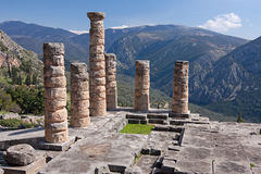 Temple of Apollo in Delphi Royalty Free Stock Photos